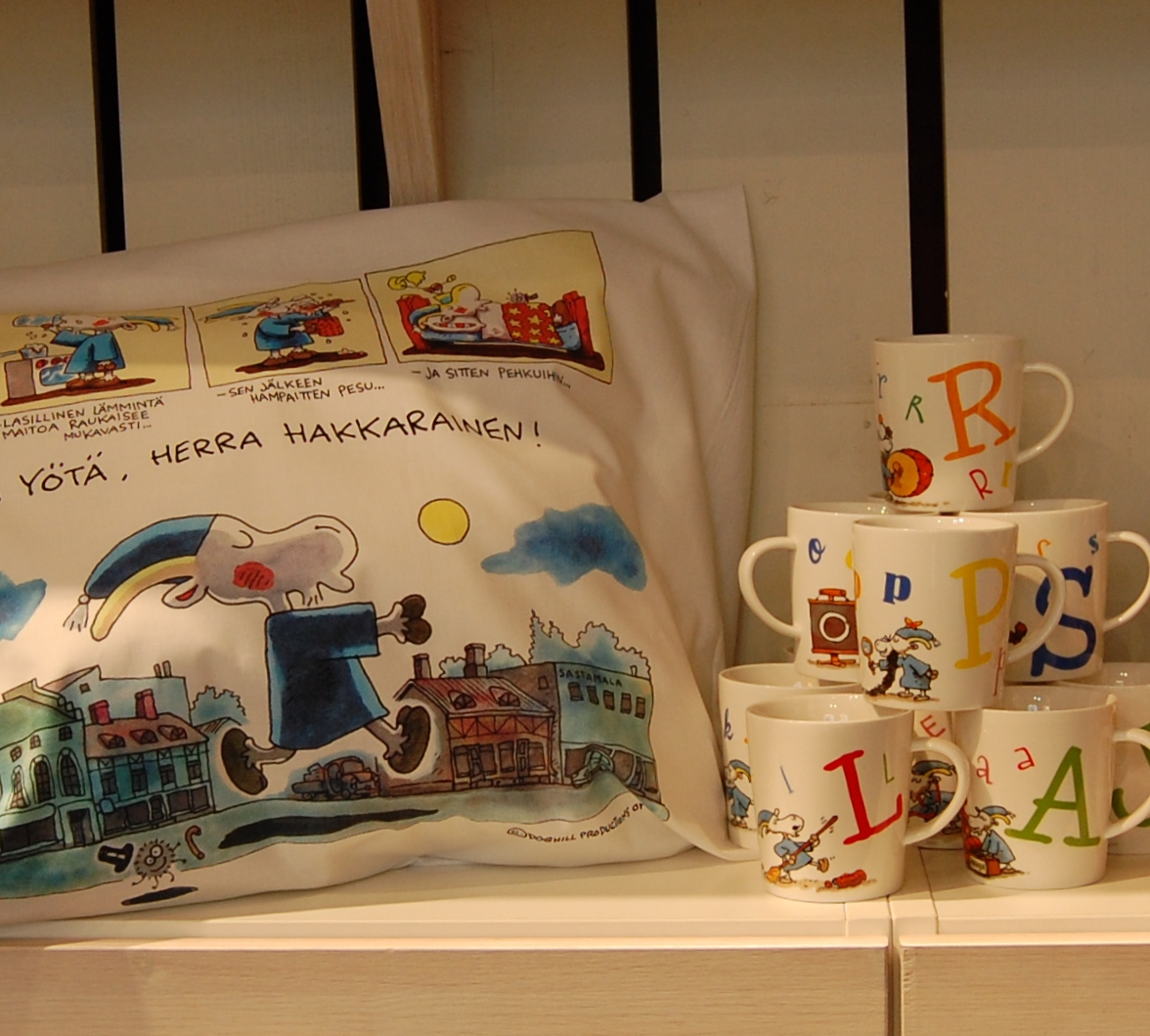Lovely pillow case and mugs from the gift shop.